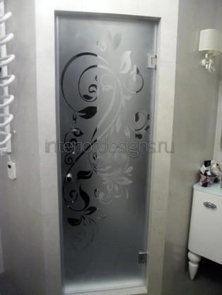 прозрачная перегородка в ванной