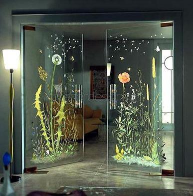 техники декорирования дверей