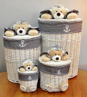 корзины из ротанга для детских вещей