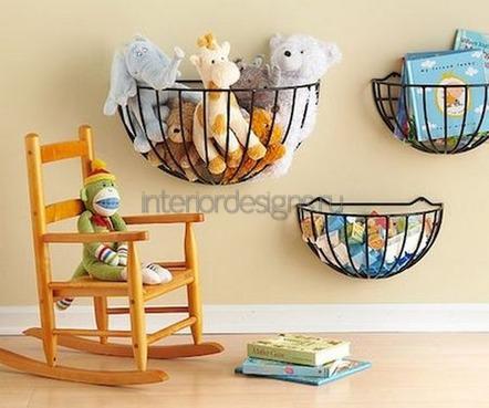 подвесные корзины в комнате дошкольника