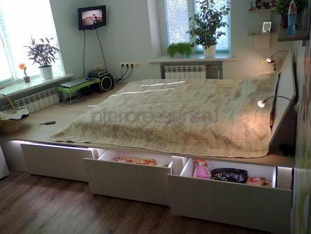конструкция кровати-подиума