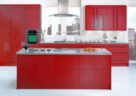 фото дизайна красной кухни