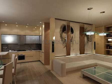 планировка совмещенных комнат