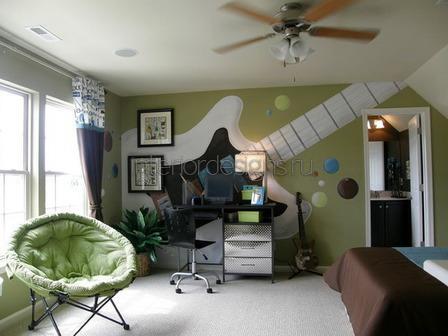 комната в музыкальном стиле
