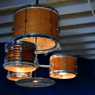 люстра в форме барабана