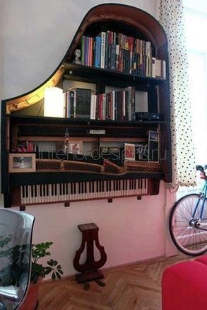 необычный стеллаж для книг
