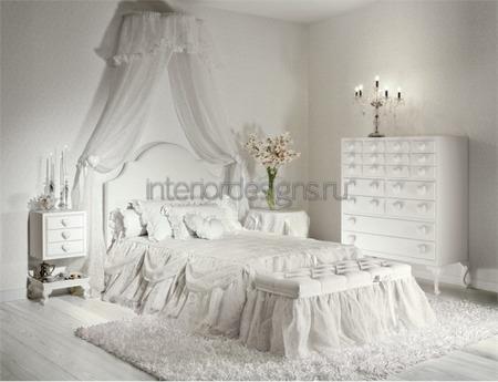 проект комнаты в белом цвете