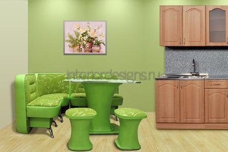 диван в интерьере кухни