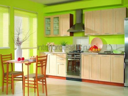 оформление комнаты в салатовом цвете