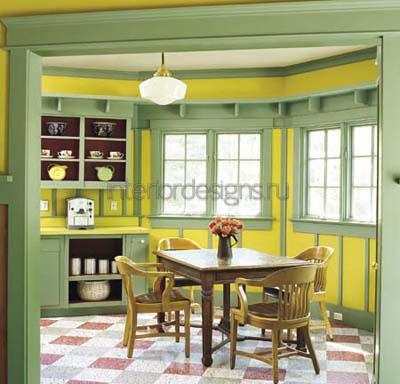фото дизайна зеленой кухни
