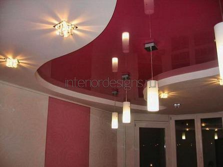 комбинированное покрытие потолка