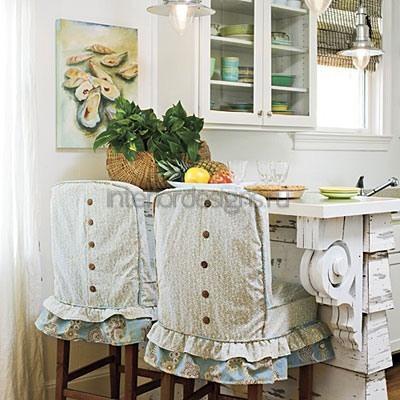 светлый текстиль на кухне