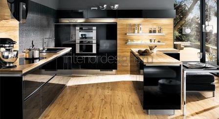 фото дизайна черной кухни