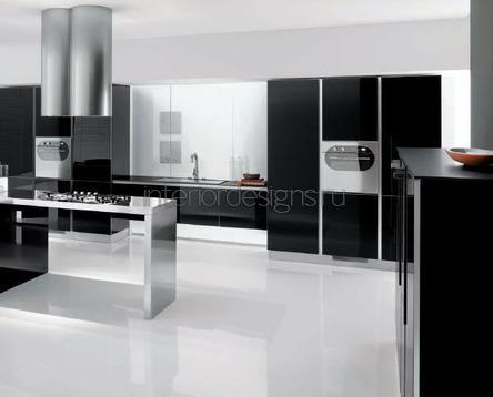 идеи для черно-белых кухонь