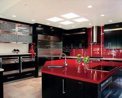 красный цвет в квартире
