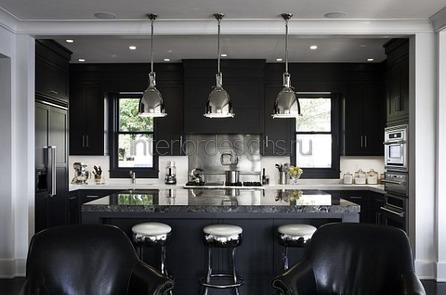 черная кухня дизайн
