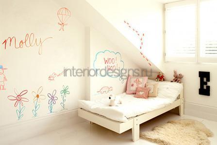 стена для рисования в комнате ребенка