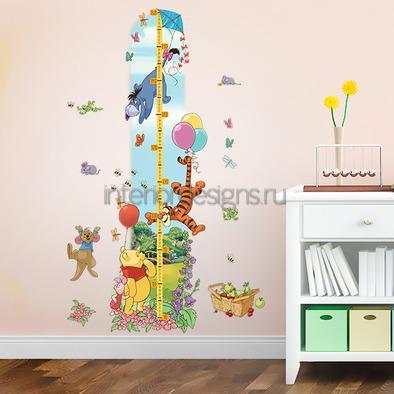 сказочный ростомер в комнате ребенка