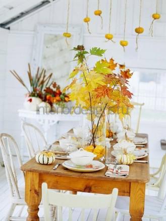 украшение комнаты листьями