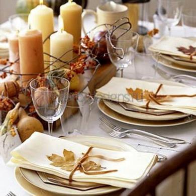 тематическая сервировка обеденного стола