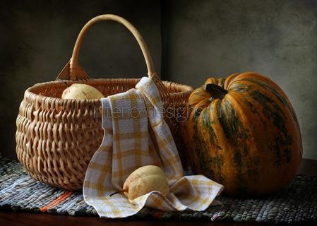 украшение плетеными корзинами
