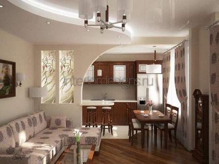 фото интерьера кухни гостиной