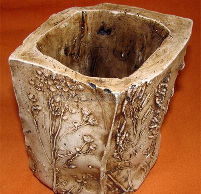 горшок с покрытием из битумного воска