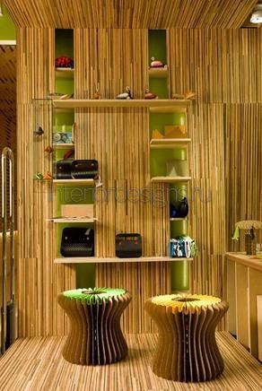отделка из бамбуковой соломки