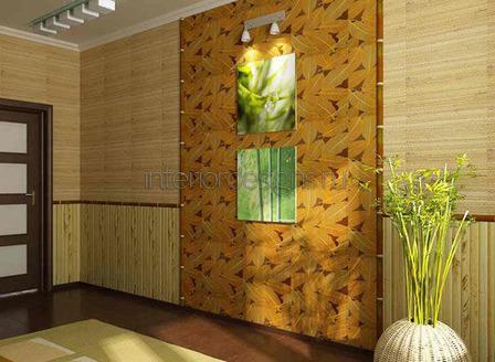 акцентированная стена в гостиной