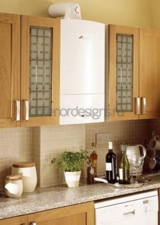 колонка в дизайне кухни