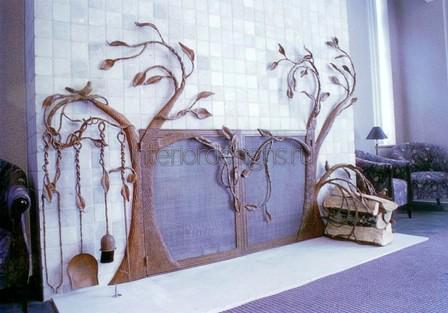декоративный камин в доме
