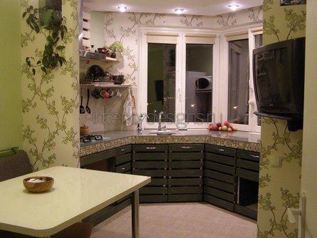 дизайн кухонь с эркером