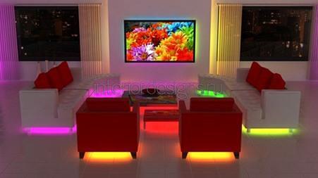 оформление ТВ зоны в квартире