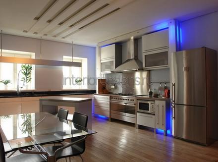совмещенная кухня и столовая