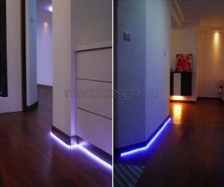 плинтуса со светодиодами