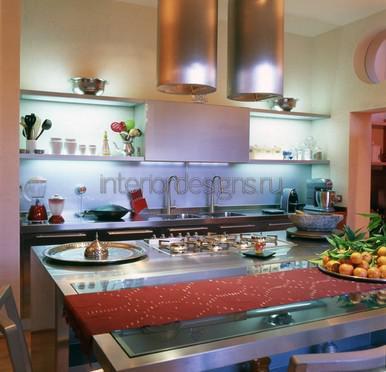расстановка кухонных аксессуаров