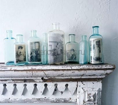 фотоснимки в бутылках