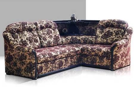 угловой диван с нишей в спинке