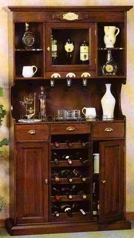 буфет с полками для вин