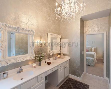 оформление стен ванной