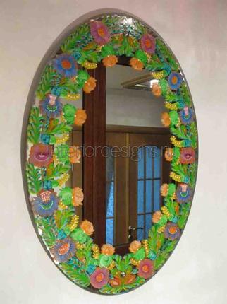 роспись зеркала