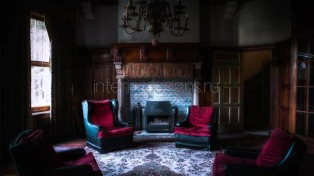 Дом со шпилем Living-room_in_gothic_style_02