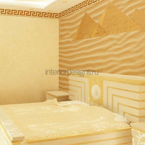 Песочный цвет в спальне