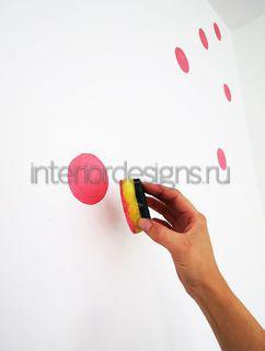 техника степпинга в оформлении стен