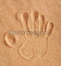 отпечаток на песке