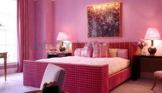 дизайн спальни в розовых тонах