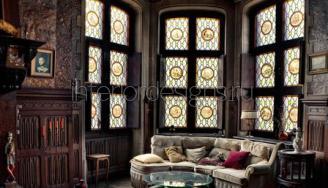 дизайн гостиной в готическом стиле