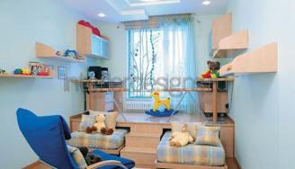 дизайн детской комнаты с подиумом