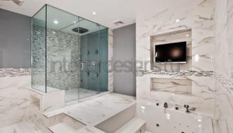 дизайн мраморной ванной