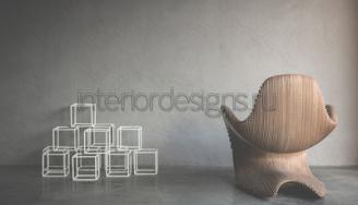 Скульптурная мебель в гостиной